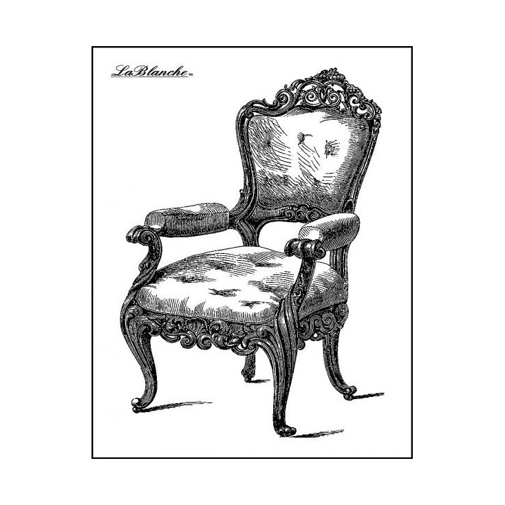 Silicon stamp - LaBlanche - Armchair