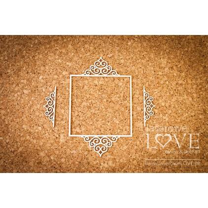 Laser LOVE - cardboard oval frame Paroles - 3 pcs.