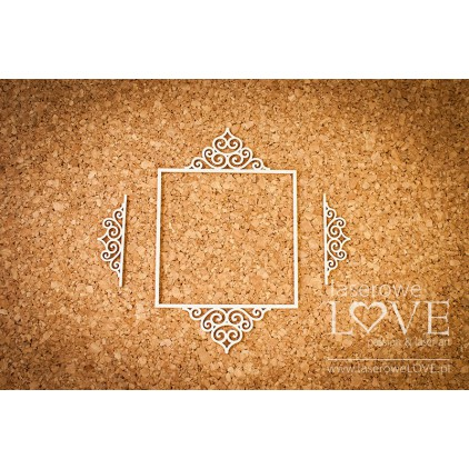 Tekturka ramka kwadratowa Paroles - 3 sztuki - LA16072412 - Laserowe LOVE