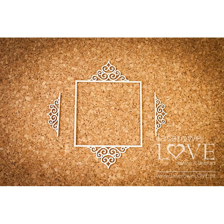 Laser LOVE - cardboard oval frame Paroles - 3 pcs.