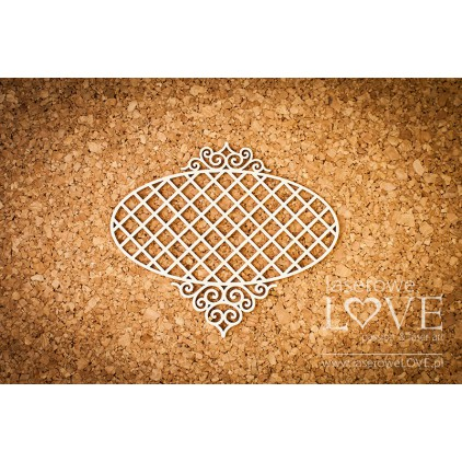 Laser LOVE - cardboard oval frame frame Paroles - 1 pcs.