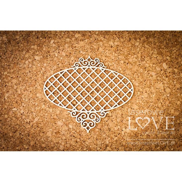 Laser LOVE - cardboard oval frame frame Paroles - 1 pcs.