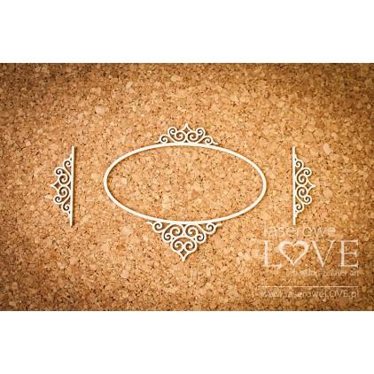 Laser LOVE - cardboard ovalr frame Paroles - 3 pcs.