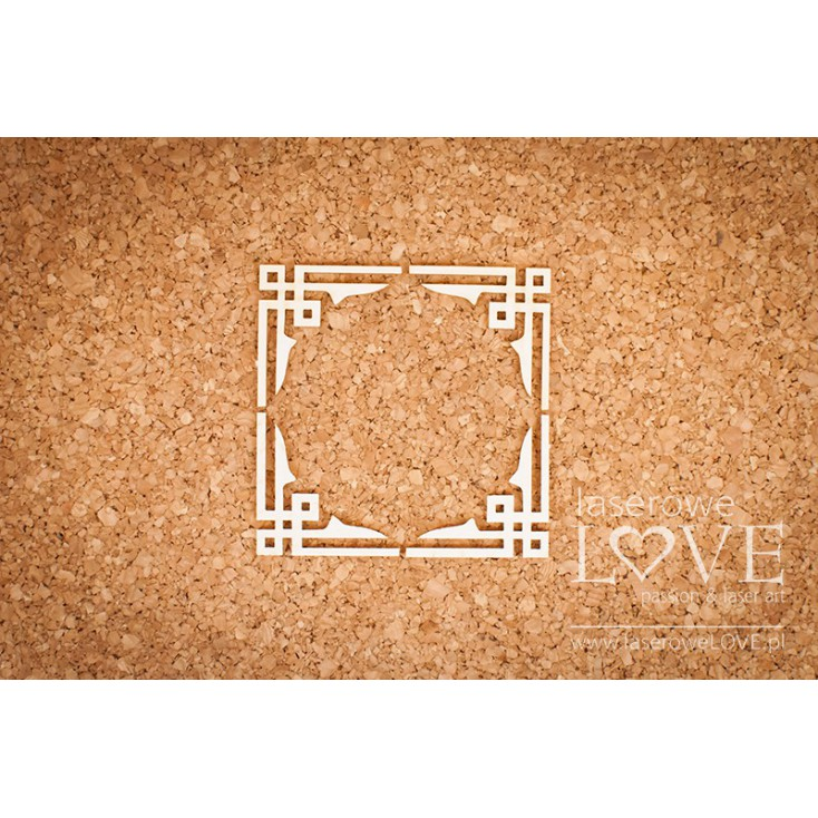 Laser LOVE - cardboard corners China Towns - 4 pcs.