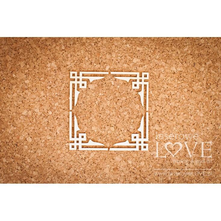 Laserowe LOVE - tekturka narożniki China Town - 4 sztuki