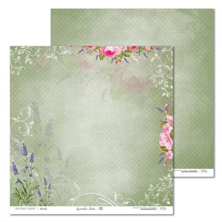 Laserowe LOVE - Papier do scrapbookingu - Lavender Date 05