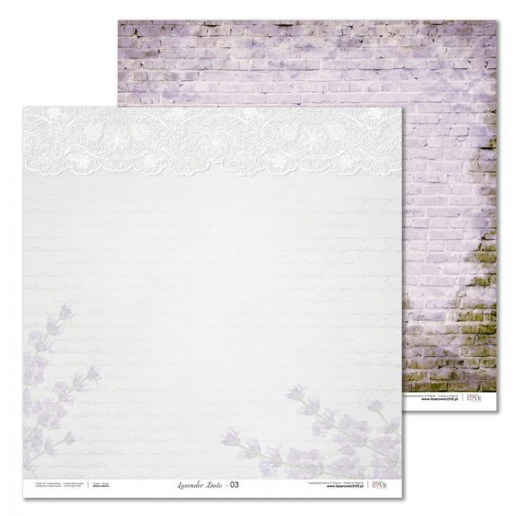 Laserowe LOVE - Papier do scrapbookingu - Lavender Date 04