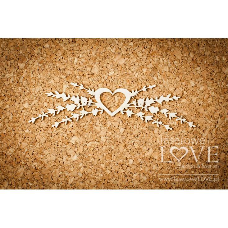 Laserowe LOVE - tekturka serce z lawendą Sweet Lavender .