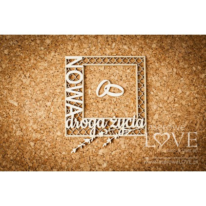 Laser LOVE - cardboard Nowa droga życia Sweet Lavender.
