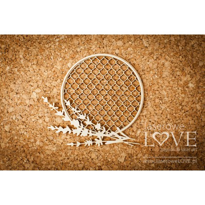 Laserowe LOVE - tekturka ramka okrągła z lawendą Sweet Lavender .