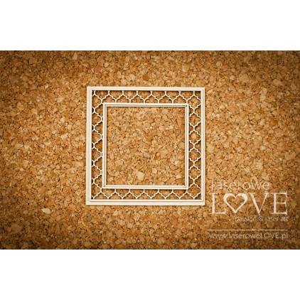 Tekturka kwadratowa Memories- LA 171034- Laserowe Love