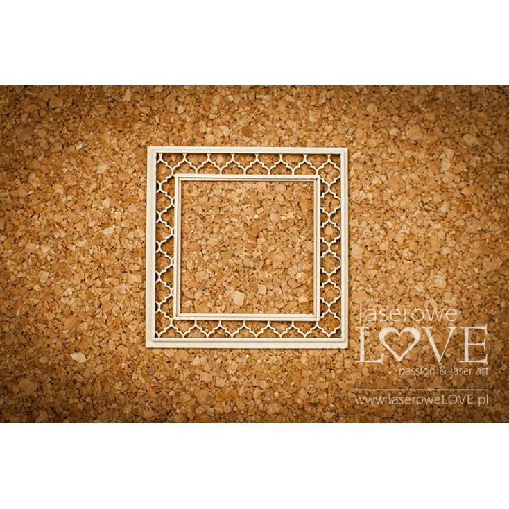 Laserowe LOVE - tekturka kwadratowa Memories.