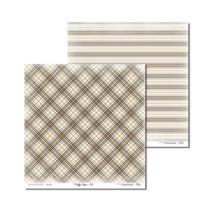 Laserowe LOVE - Scrapbooking paper - Coffee Time 03
