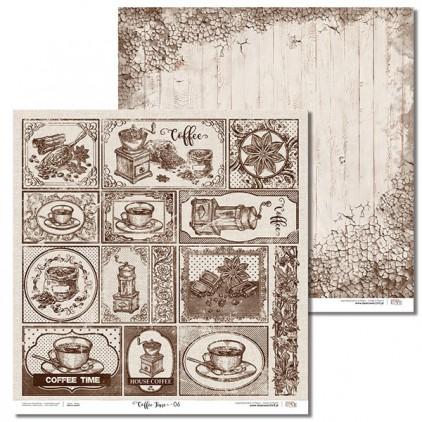 Laserowe LOVE - Scrapbooking paper - Coffee Time 06