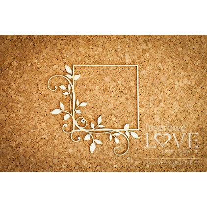 Cardboard square frame with leaves - Fleur -LA16072509- Laserowe LOVE