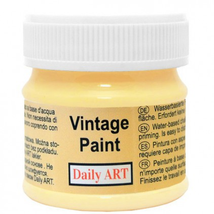 Chalk paint vintage - Daily Art - pastel yellow - 50ml