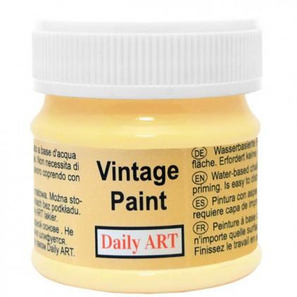 Farba kredowa vintage - Daily Art - pastelowo żółta - 50ml