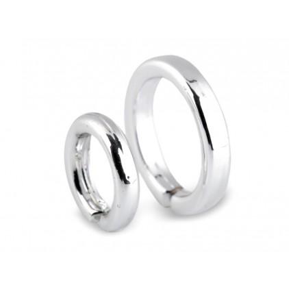 Para srebrnych mini obrączek- pieścionek 02