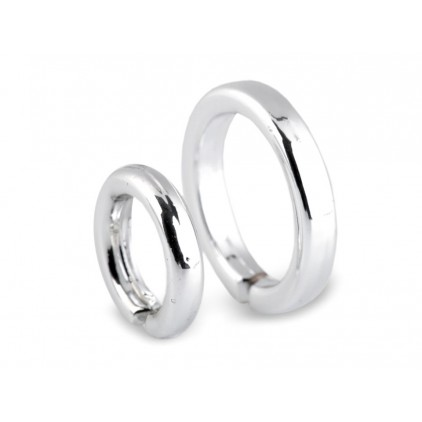Mini wedding ring - pair - silver 02