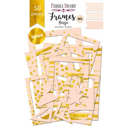 Set of frames - Fabrika Decoru - Beige with foiled - 50pcs