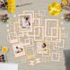 Set of frames - Fabrika Decoru - Beige with foiled - 50pcs