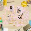 Zestaw papierowych ramek - Fabrika Decoru - Pink ze złoceniami - 39 części