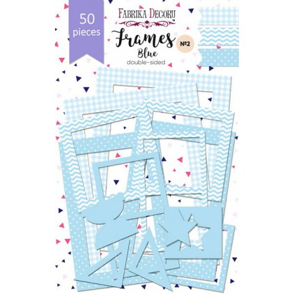 Set of frames - Fabrika Decoru - Blue - 50pcs