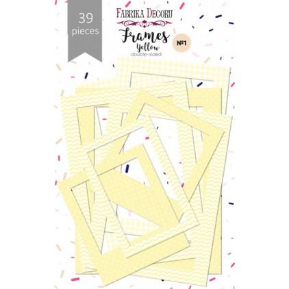Zestaw papierowych ramek - Fabrika Decoru - Yellow - 39 części