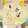 Zestaw papierowych ramek - Fabrika Decoru - Yellow ze złoceniami - 39 części