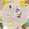 Set of frames - Fabrika Decoru - Purple with gold foiled - 39pcs