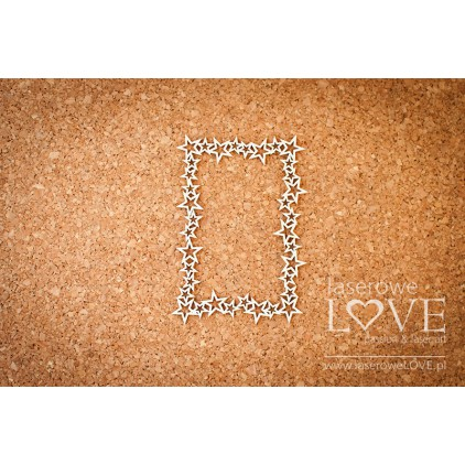 Cardboard rectangular frame with stars Le Astre -LA16081202 - LAserowe LOVE