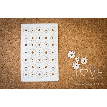 Cardboard flowers set- LA16072605 - Laserowe LOVE