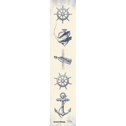 Laserowe LOVE - strip - Nautical Holidays- navy blue