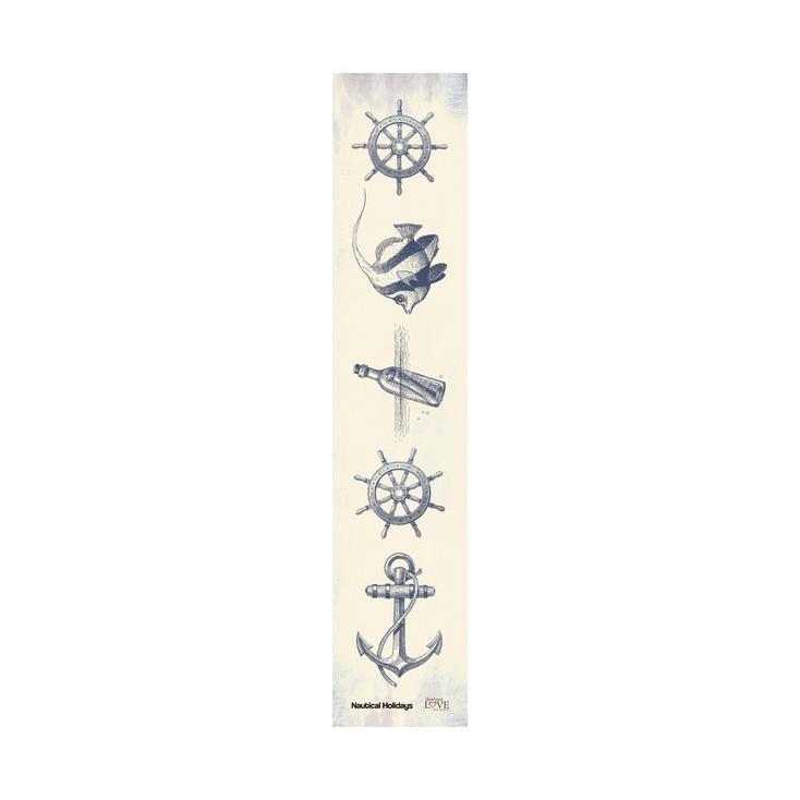 Laserowe LOVE - strip - Nautical Holidays- navy blue