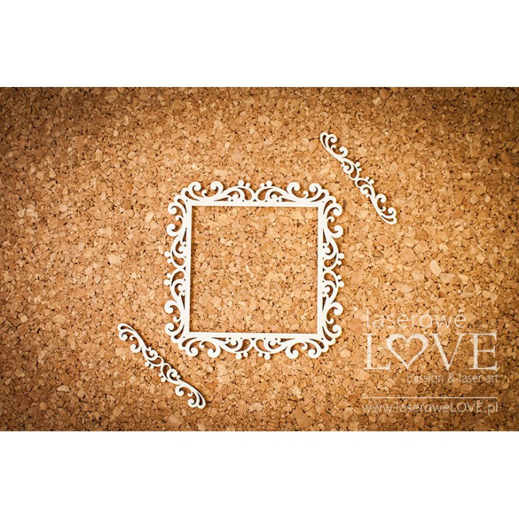 Laser LOVE - cardboard square frame Paroles