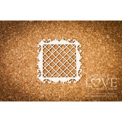 Laser LOVE - cardboard square frame, mesh Paroles