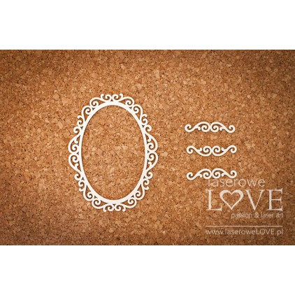 Laser LOVE - cardboard oval frame Paroles
