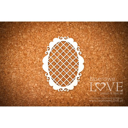 Laser LOVE - cardboard oval frame, mensh Paroles