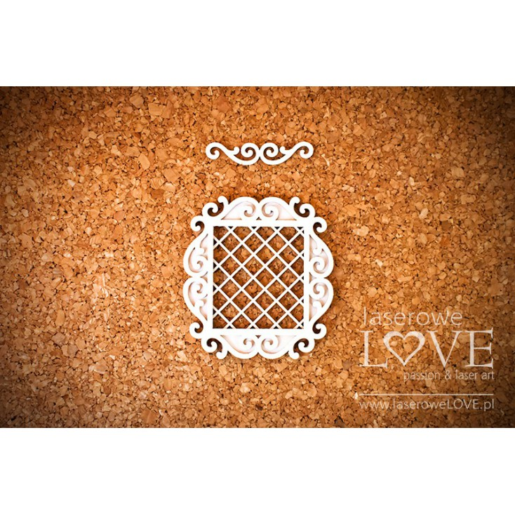 Laser LOVE - cardboard rectangular frame Paroles layered