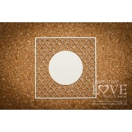 Laserowe LOVE - tekturka kratka Vintage koło 02 - Memories