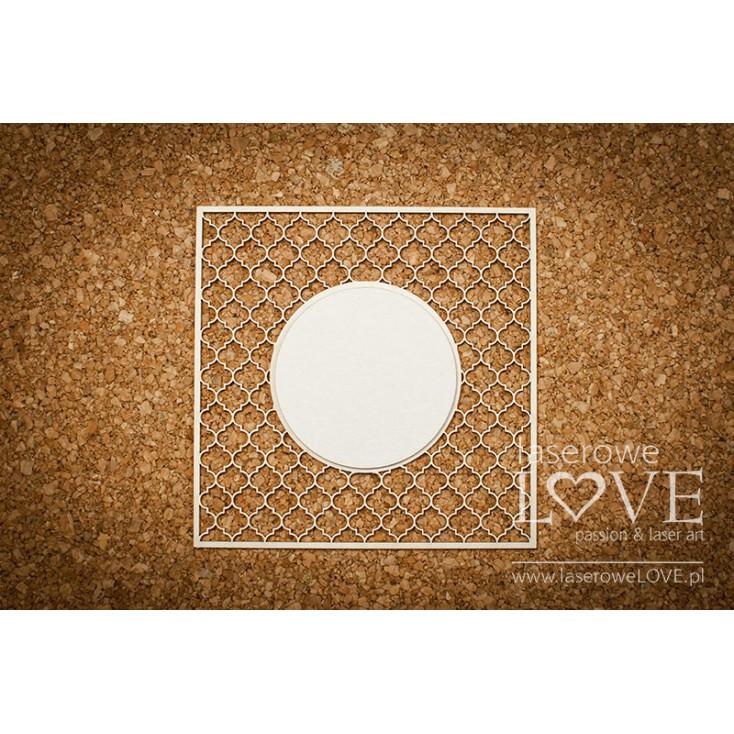 Laserowe LOVE - tekturka kratka Vintage koło 03 - Memories