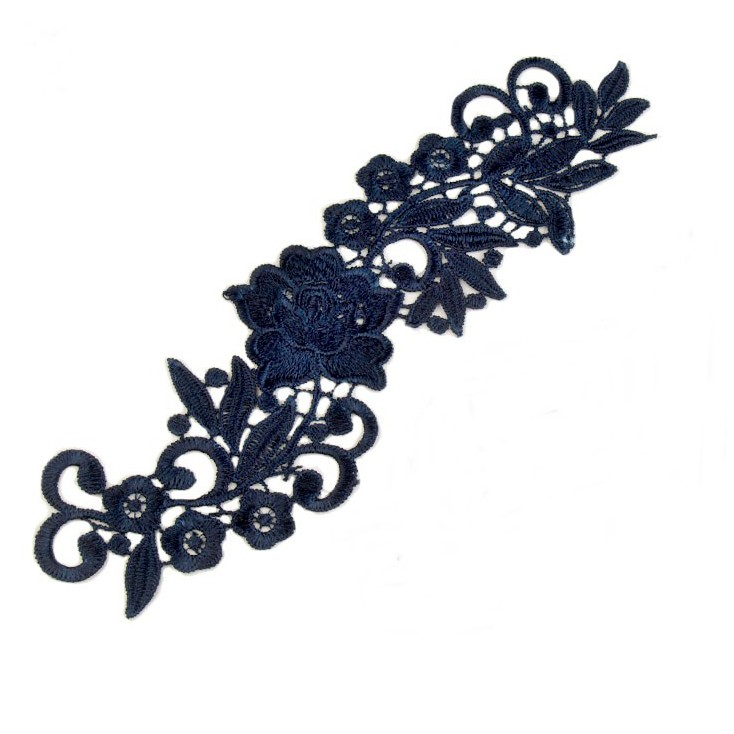 Lace application - navy 02 - 1 pcs., left