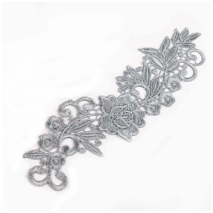 Lace layered application - grey 02- 1 pcs., right