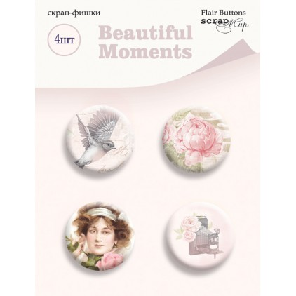 Selfadhesive buttons/badge - ScrapMir - Beautiful moments