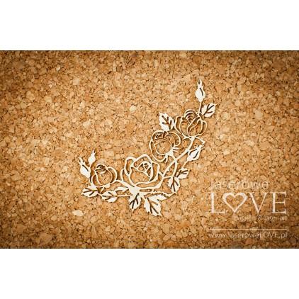 Cardboard Rose garden corner ornament - Memories- LA171030 - Laserowe LOVE