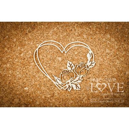 Cardboard Rose garden in the heart - Memories -LA 171028 -Laserowe LOVE