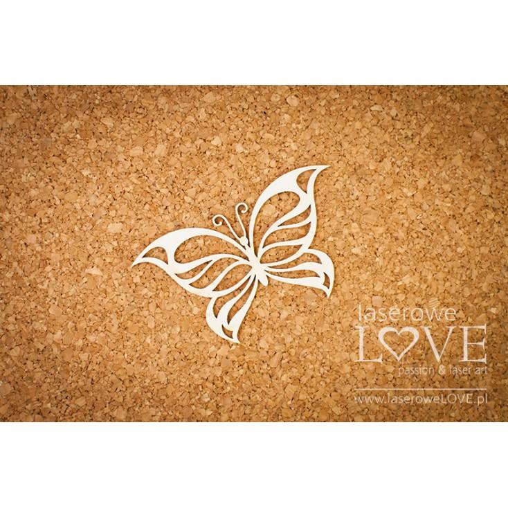 Laserowe LOVE - tekturka motyl - Soufre
