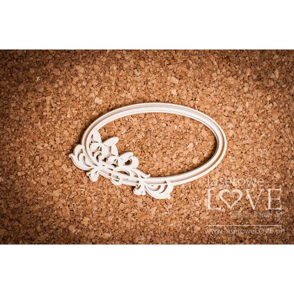 Laser LOVE - cardboard Pappilon oval frame with butterflies