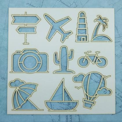 Craft O Clock - cardboard cut out -  Adwenture Awaits