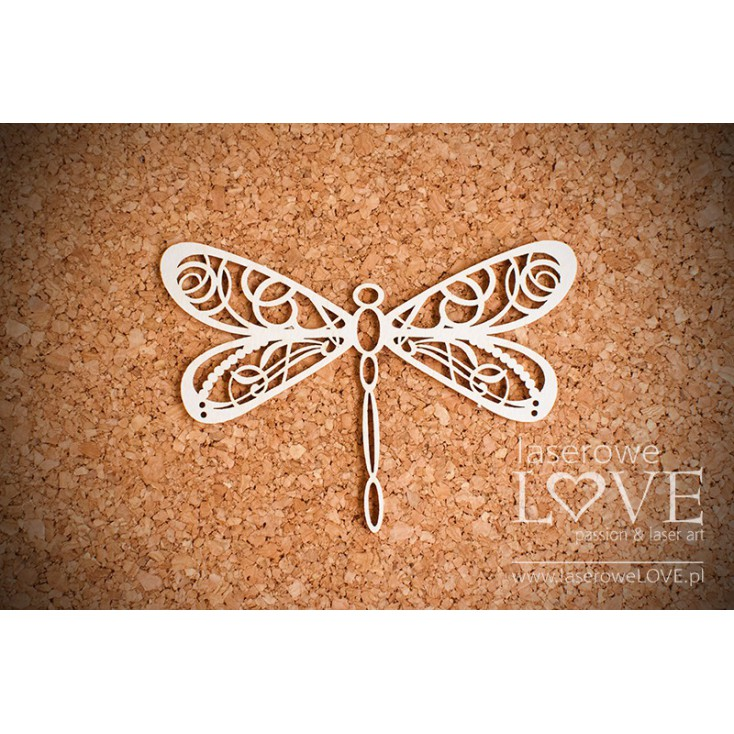 Laser LOVE - cardboard dragonfly